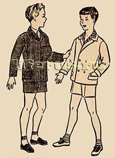Чертеж выкройки куртки для мальчика дошкольного возраста