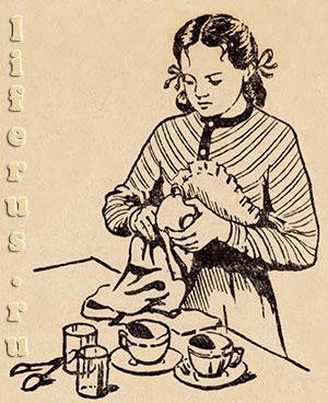 Надо приучать детей к домашнему труду